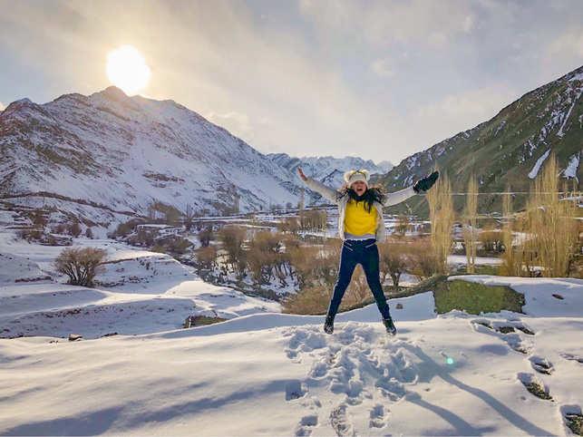 The 24-year-old visited Lamayuru, Alchi, Zanskar, Chilling, Rumbak, Hemis National Park and several monasteries.
