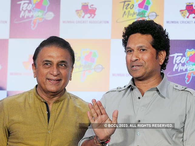 Sunil Gavaskar and Sachin Tendulkar were at the launch of a cricket tournament in Mumbai some days ago.