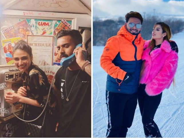 While the top-order batsman Rahul was seen getting cosy with actress Athiya Shetty, Rishabh Pant was seen enjoying the beauty of snow-clad mountains with rumoured girlfriend Isha Negi.