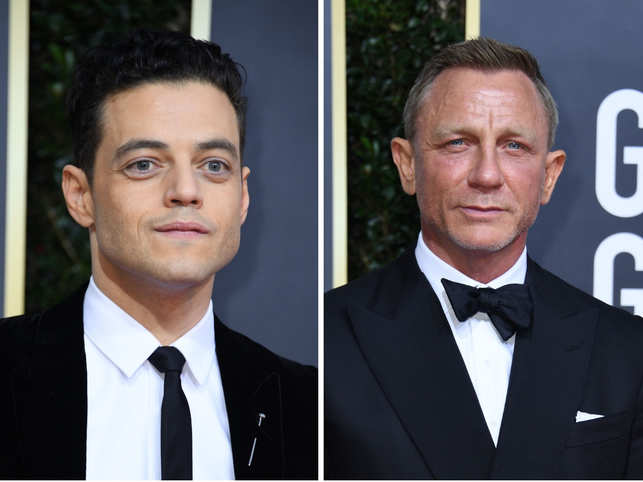 Rami Malek (L) dished out a few details about his character in the film and his experience of working with Daniel Craig (R) on the red carpet of the 77th Golden Globe awards.