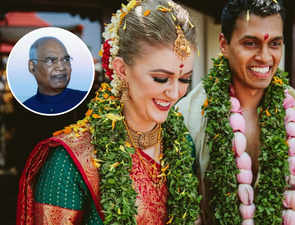 A dream Kochi nuptials & a presidential visit: American's wedding happens, with some help from Kovind