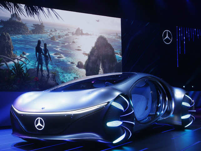 Mercedes-Benz launched the sustainable concept car Vision AVTR at the CES tech show in Las Vegas on Tuesday.