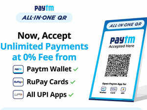 Paytm launches all-in-one QR for merchants to accept unlimited payments at 0% fee
