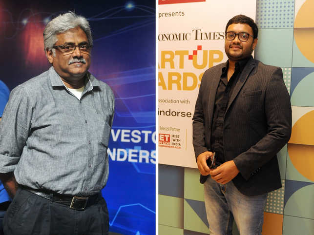 At the sidelines of a recent event, Menon (left) shared an anecdote to explain how the two friends (Sriharsha Majety, right) bounce ideas off each other.