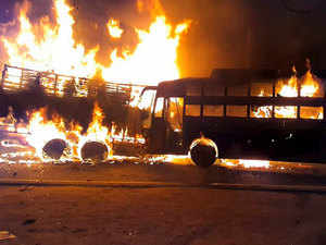 Kannauj accident: 20 feared charred to death as bus catches fire after colliding with truck
