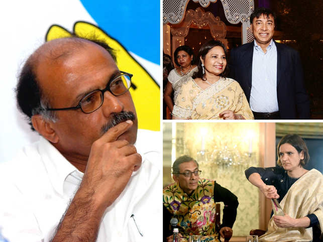 Clockwise from left: Here's what Air Deccan founder GR Gopinath, Usha and Lakshmi Niwas Mittal, Nobel prize winners Esther Duflo and Abhijit Banerjee have been up to in the new year.