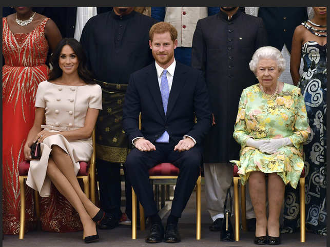 In her statement, the Queen (R) said that these are complex matters, and some more work needs to be done. (In pic: Meghan Markle (L) and prince Harry)