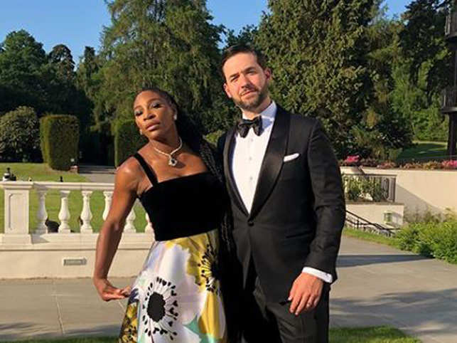 Alexis Ohanian (R) revealed that he met Serena Williams when he took up a speaking offer in Rome. (Image: Serena Williams/Instagram)