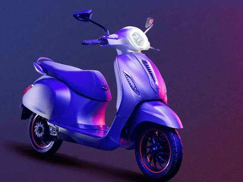 ​Bajaj's first electric scooter