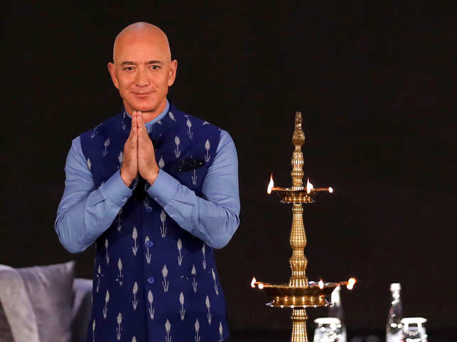 From talking shop to failures in business, entrepreneurship and innovation, Bezos used the right keywords as he spoke of India's democratic prowess and powers.