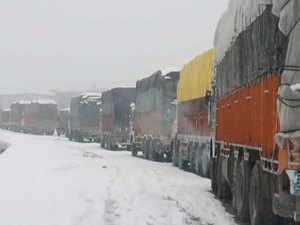 Watch: Srinagar- Jammu NH closed due to snowfall