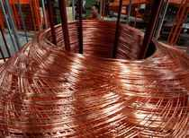 FILE PHOTO: Copper rods at Truong Phu cable factory in northern Hai Duong province, outside Hanoi
