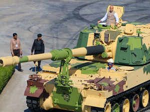 Rajnath Singh flags off 51st K-9 Vajra-T gun in Surat