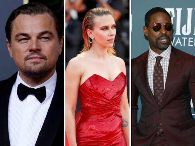 From L-R: Leonardo DiCaprio, Scarlett Johansson, Sterling K. Brown are presenters at SAG Awards.