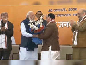 Watch: JP Nadda takes over as BJP's national president