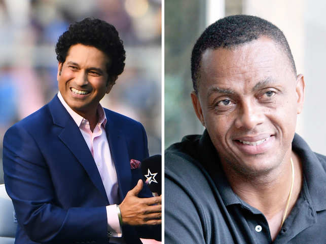 Batting legend Sachin Tendulkar (left) and West Indies bowling great Courtney Walsh (right) will be coaching the star-studded teams.