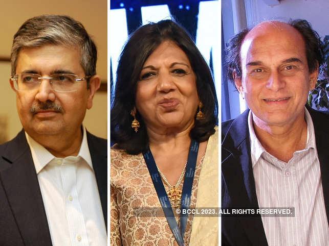 (L-R) Uday Kotak, Kiran Mazumdar-Shaw and Harsh Mariwala are hopeful India will shine globally.