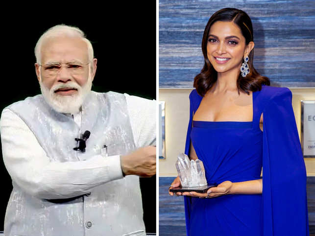 India appears to be generating a lot of interest including for morning meditation sessions, filmstar Deepika Padukone (right) and the latest on policy roadmap of the Narendra Modi (left) government.