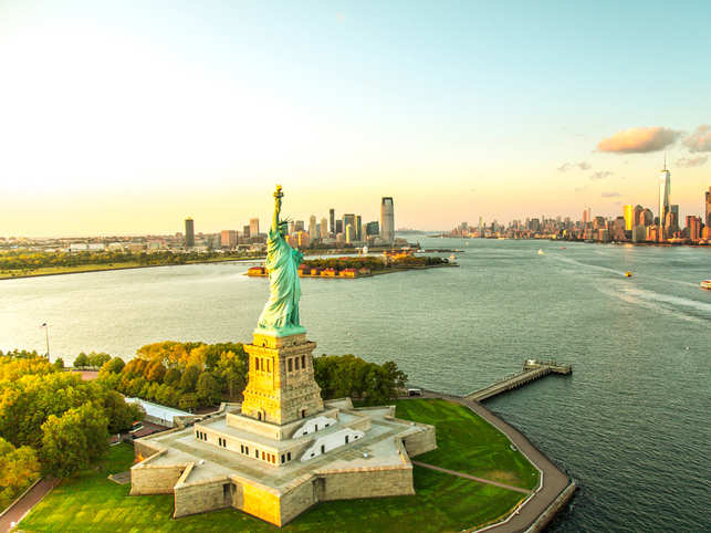 When in USA, visit the Statue of Liberty.