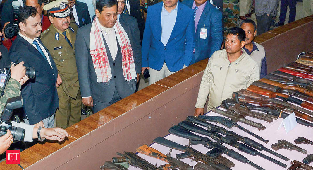 644 cadres from eight insurgent groups lay down arms in Assam