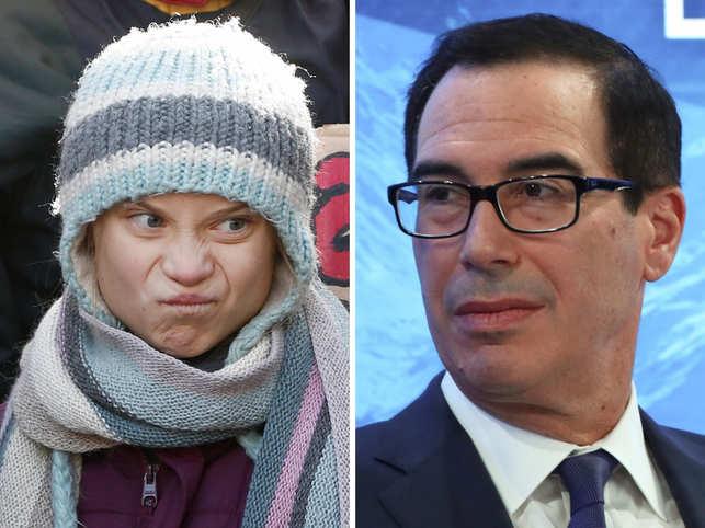 Greta Thunberg brushes off mockery from US finance chief Steven Mnuchin