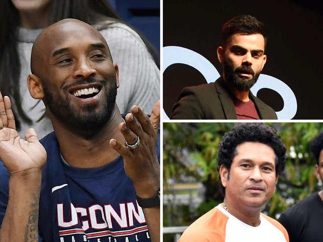 Kobe Bryant's suddent death has left the entire world in shock. (In Pic: Virat Kohli - top right and Sachin Tendulkar - bottom right)