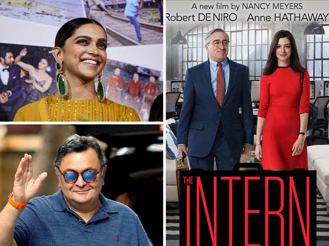 Deepika Padukone, Rishi Kapoor to feature in Indian adaptation of De Niro-Hathaway starrer 'The Intern'