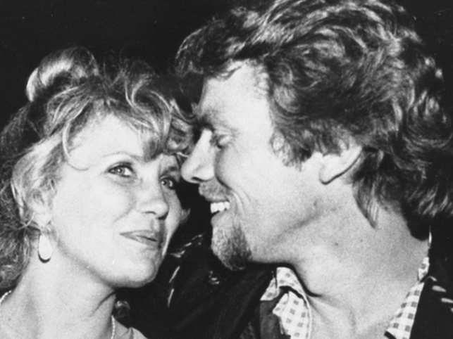 Richard Branson (R) had posted a throwback memory of the time spent on the houseboat. (L - Branson's wife Joan)