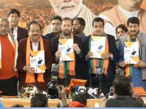 BJP releases the 'Sankalp Patra' for upcoming Delhi Assembly polls