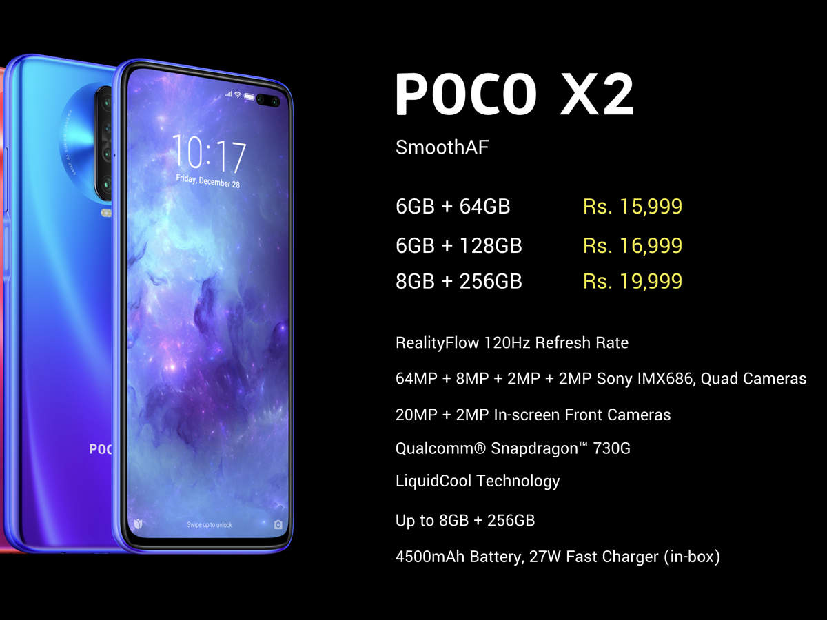 Poco X2 Price In India News And Updates From The Economic Times