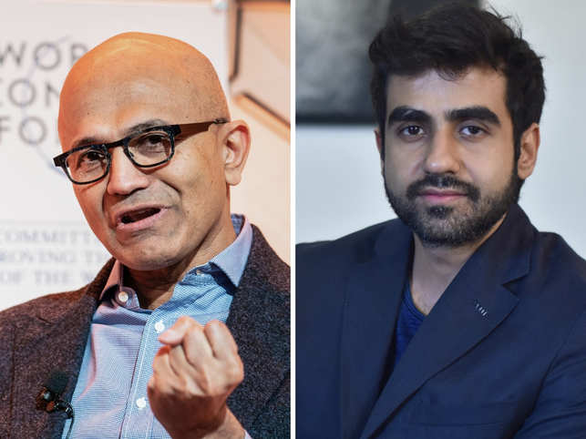As a first-time attendee, Nikhil Kamath (right), co-founder, Zerodha and True Beacon, found several speakers impactful. But one among them stood out and that was Satya Nadella (left).
