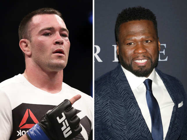 Colby Covington (L) said he will tie one hand behind his back, and will fight 50 Cent (R).