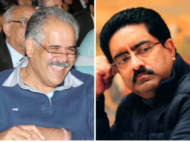 While Rahul Bhatia (left) still can't get over his love for Blackberry phones, Kumar Mangalam Birla (right) was spotted on a rather 'humble' visit to a multiplex.