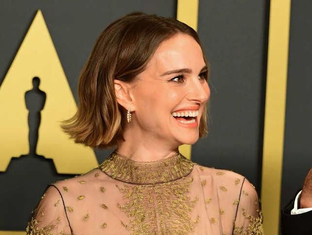 Natalie Portman Oscars Look 2020 Shades All-Male Director Nominees