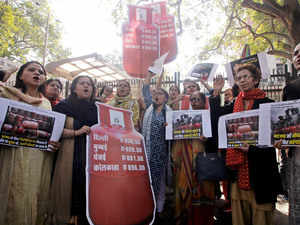 cooking gas protest