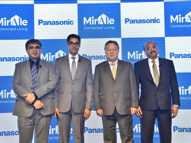 Panasonic connected home solutions launch event (from L-R): Mr. Manish Misra, Mr. Manish Sharma, Mr. Daizo Ito, Mr. Dinesh Aggarwal