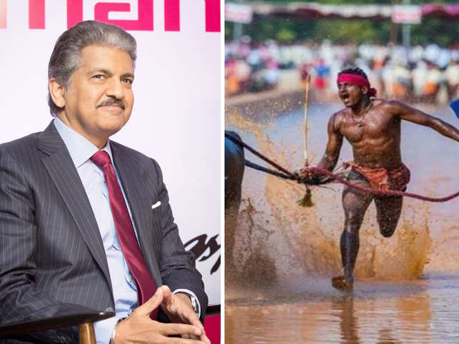 Mahindra (left) was all praises for Gowda (right).