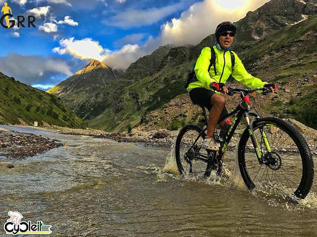 When he decided to take this trip, Kapoor bought a bicycle and started practising.