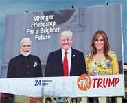 Ahmedabad beautified ahead of Trump's visit