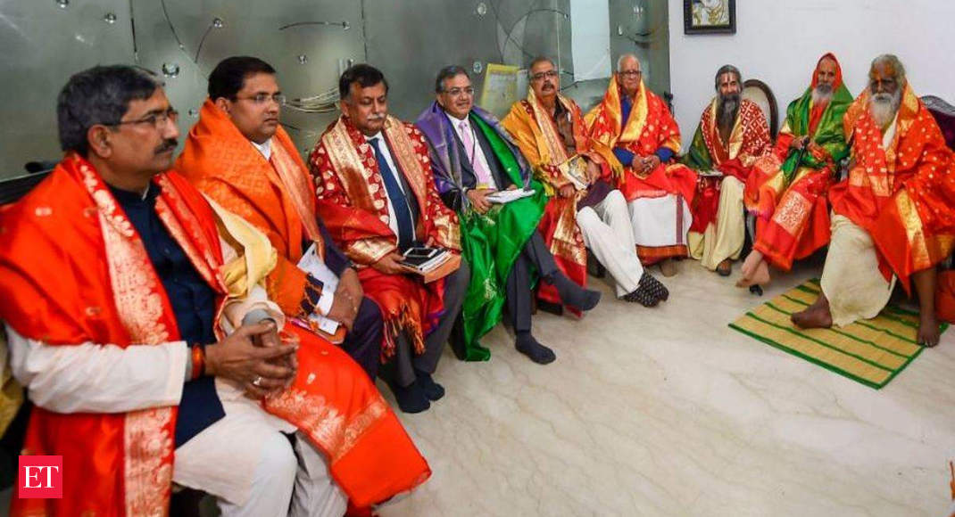 Ram Mandir Trust members meet PM, invite him to visit Ayodhya for bhoomi pujan