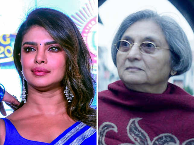 ​Priyanka Chopra (L) will produce Ma Anand Sheela​'s movie through her Purple Pebble Pictures​.