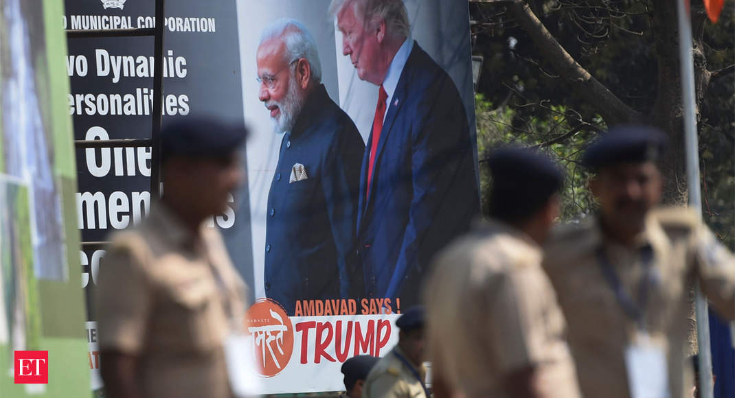 Unprecedented security in Delhi for Donald Trump's visit