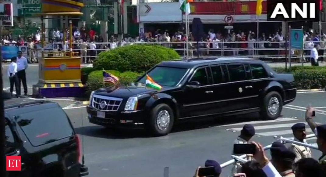 Trump, Modi embark on 22-km-long roadshow in Ahmedabad