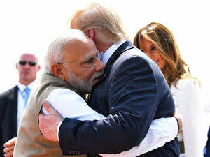 Trump India visit: PM Modi welcomes US President with a warm hug at Ahmedabad airport