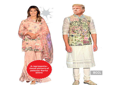 An Indian Dress Code For Mr Mrs Donald Trump Suggesting Indian Attires For Mr Mrs Trump The Economic Times