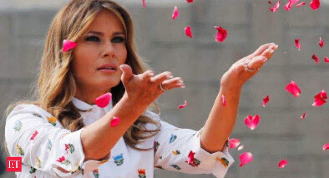US First Lady Melania Trump arrives at govt school to attend 'Happiness Class'