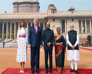 Best photos of Donald Trump's India visit