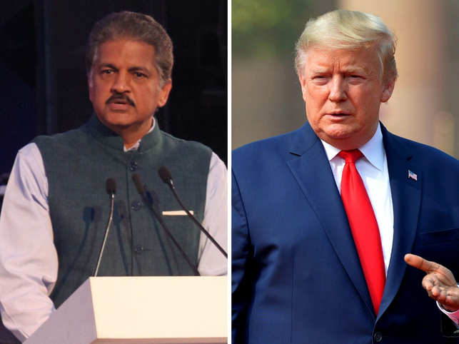 Anand Mahindra opines on Donald Trump's maiden India visit.
