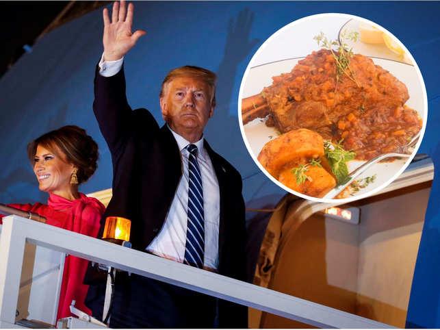 Sources said Donald and Melania Trump liked 'naan' and 'Sikandari Raan'.