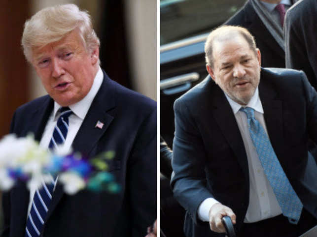 """I was never a fan of Harvey Weinstein,"" Trump said."
